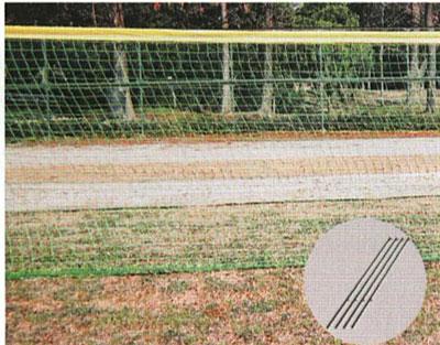 「ポイント2倍+クーポン付与!11/10(土)23:59まで」【受注生産品】【防球ネット 野球】カネヤ 外野防球ネットDX型10m KB-3860