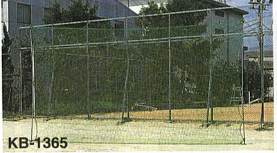 【受注生産品】【バックネット】カネヤ バックネット(ネットのみ) グリーン KB-1361