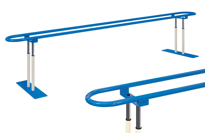 【平行棒】【受注生産品】高田ベッド Tラウンド平行棒 TB-1198|歩行補助 支持台 医療用 送料無料 手すり 介護用品 リハビリ 歩行訓練 平行棒 福祉施設