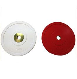 【オリンピックプレート】BULL Φ50mmパフォーマンスプレート2.5kg(赤)(2枚1組) BL-PMP2.5