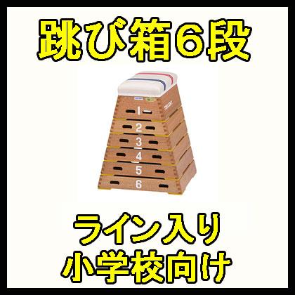 【受注生産品】【跳び箱】トーエイライト 跳箱ST6段 T-2567