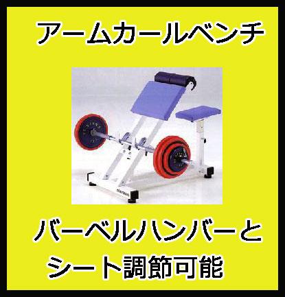 【受注生産品】【アームカール】ダントス アームカールベンチ D-526