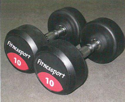 【ポイント5倍!期間8/4-8/8】【ラバーダンベル】Fitnessport ラバーダンベル 4kg
