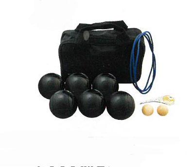 【お取寄せ商品】【ペタンク】サンラッキー ペタンク 国際連盟公認球12個セット ブラック球セット SRP?24