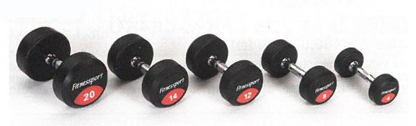 【ラバーダンベル】FitnessPort ラバーダンベル14kg(2個1組)