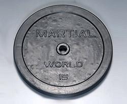 【マーシャルワールド バーベルプレート】マーシャルワールド製 ラバープレート 15kg(1枚) RP15000 (送料別)|バーベル セット ダンベル 筋トレ ウエイトトレーニング パワーラック ベンチプレス 大胸筋 バーベル プレート バーベルシャフト
