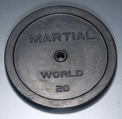 【マーシャルワールド バーベル プレート】マーシャルワールド製 ラバープレート 20kg(1枚) RP20000 (送料別)|バーベル セット ダンベル 筋トレ ウエイトトレーニング パワーラック ベンチプレス 大胸筋 バーベル プレート バーベルシャフト