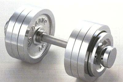 【クロムダンベル】 DANNO 固定式ダンベル15kgセット(片手のみ)D-753