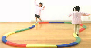 【平均台 幼児】ダンノ  レール平均台 1セット D-7152