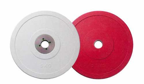 【オリンピックプレート】BULL Φ50mmパフォーマンスプレート5kg(白)(2枚1組) BL-PMP5|バーベル セット ダンベル 筋トレ ウエイトトレーニング パワーラック ベンチプレス 大胸筋 バーベル プレート バーベルシャフト