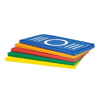 【受注生産品】【体操マット】トーエイライト ステップケンパ指示マークマット T-2819 (カラー:青)