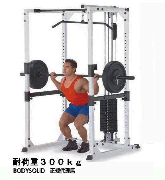 [パワーラック]【動画参照】bodysolid(ボディソリッド)プロパワーラック GPR-82+ラットマシンアタッチメント LA-80.3(ウエイト90kg付)【検品後発送】】】|筋力 背中 上腕筋 ベンチプレス 筋トレ パワーラック インクラインベンチ