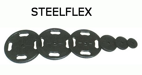【バーベルプレート 20kg】STEELFLEX 20kgラバーバーベルプレート 28mm孔径(2枚1組)|バーベル セット ダンベル 筋トレ ウエイトトレーニング パワーラック ベンチプレス 大胸筋 バーベル プレート バーベルシャフト