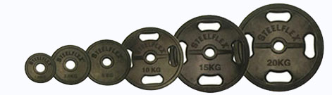 【オリンピックプレート】「スチールフレックス バーベルプレート」STEELFLEX 10kgラバーバーベルプレート 50mm孔径(2枚1組)|バーベル セット ダンベル 筋トレ ウエイトトレーニング パワーラック ベンチプレス 大胸筋 バーベル プレート バーベルシャフト