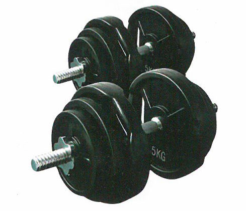 【ダンベル セット】KANEYA ラバーバーベル28Φ 50kgセット(片手25kg) KH-546