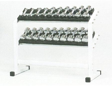 【ダンベルセット】DANNO ラック&クロームアレーセット(ダンベル1kg~10kg各1組) D-5540