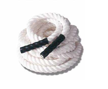 【動画参照】【トレーニングロープ】ザオバ トレーニングロープ(長さ:15m2cm、太さ:38mm) 色:白 BL-TR5015
