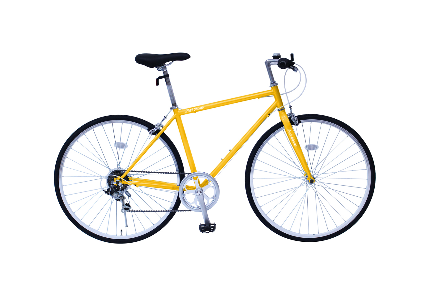 【メーカー直送/代引不可】ミムゴ FIELD CHAMP フィールドチャンプ クロスバイク 700C 6SF MG-FCP700CF(カラー:イエロー)