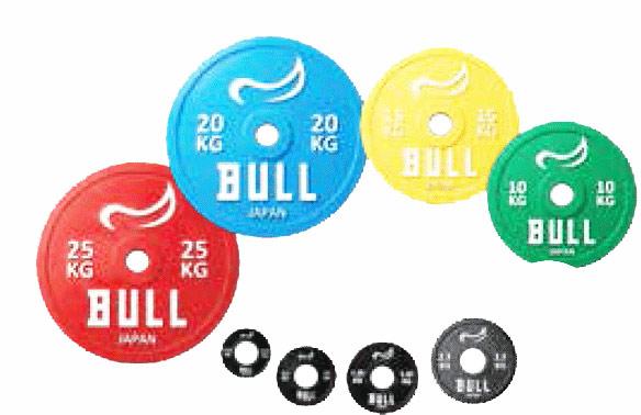 【重量高精度パワーリフティングプレート】BULL IPF公認パワーリフティングプレート 10kg(2枚1組) BL-PLP10|パワーリフティング ダンベル 筋トレ ウエイトトレーニング パワーラック ベンチプレス 大胸筋 バーベル プレート バーベルシャフト