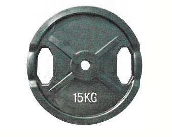 【Φ28mmバーベルプレート】KANEYA ラバープレート28Φ 15kg(2枚組) KH-412