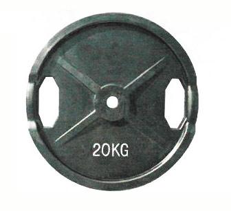 【代引き不可】【Φ28mmバーベルプレート】KANEYA ラバープレート28Φ 20kg(2枚組) KH-413