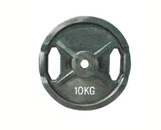 【代引き不可】【オリンピックプレート】KANEYA オリンピックバーベルプレート10kg(2枚組) KH-426