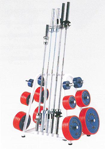 【受注生産品】【バーベル ラック】DANNO バーベルラックDX50 50mmプレート用 D-542|バーベルプレートスタンド