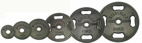 【ポイント5倍!3/21~3/25】「スチールフレックス バーベルプレート」STEELFLEX 15kgラバーバーベルプレート 50mm孔径(2枚1組)|バーベル セット ダンベル 筋トレ ウエイトトレーニング パワーラック ベンチプレス 大胸筋 バーベル プレート バーベルシャフト