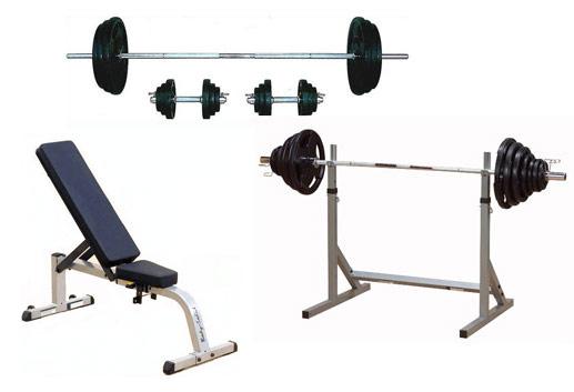 ベンチプレストレーニングセットA(バーベル&ダンベル70kgセット+フラット・インクラインベンチ+スクワットラックスタンド)