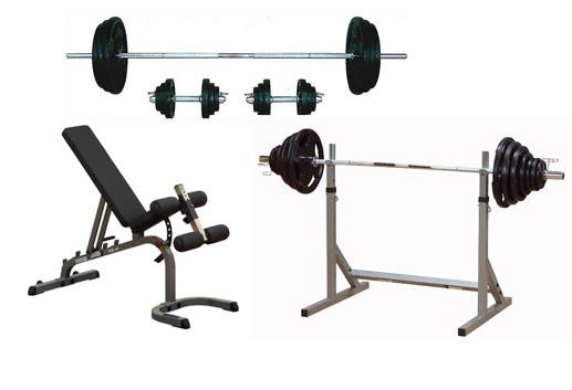 【動画参照】ベンチプレストレーニングセットB(バーベル&ダンベル70kgセット+フラット・インクライン・デクラインベンチGFID31+スクワットラックスタンドPSS60X)