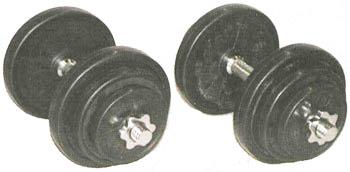 【ラバーダンベルセット】YY 25kgラバーダンベルセット(25kgx2)トレーニング器具
