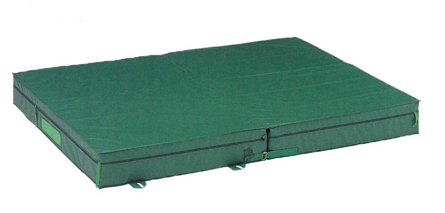 【受注生産品】【ランディングマット】ダンノ ランディングマット(屋外用2つ折り)(300x300x50cm)D-3969(直送品、送料別途見積)|体操マット エバーマット スポーツマット ランディングマット