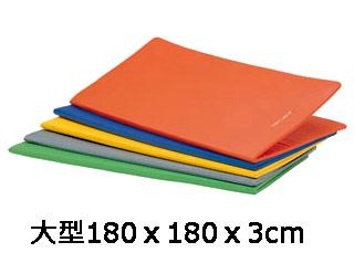 送料無料 ストレッチマット トーエイライト エアロビクス 日本産 トレーニング等の準備運動や床運動に最適 H-7481 好評受付中 カラー:オレンジ ストレッチマットF180DX 二つ折り収納 在庫有り
