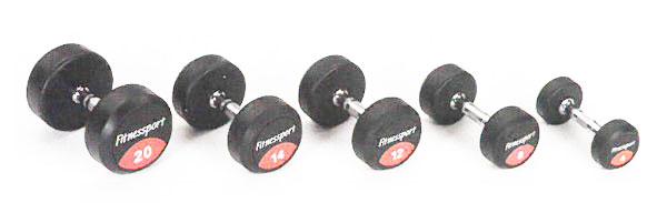 【ポイント5倍!5/11(土)20:00~5/18(土)1:59】【ラバーダンベル】FitnessPort ラバーダンベル35kg(2個1組)