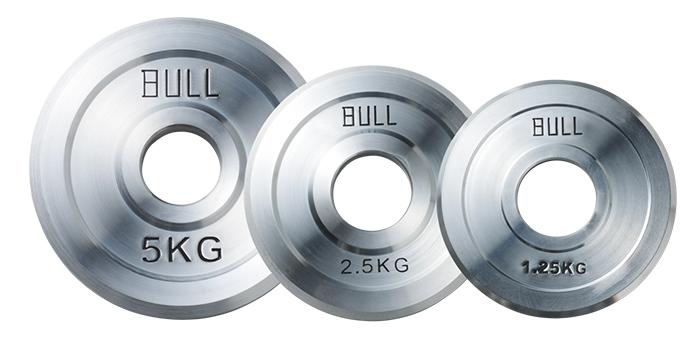 【オリンピックプレート】BULL Φ50mmスティールプレート2.5kg(2枚1組) BL-BP2.5|  バーベル セット ダンベル 筋トレ ウエイトトレーニング パワーラック ベンチプレス 大胸筋 バーベル プレート バーベルシャフト