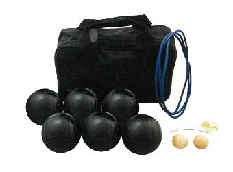 【お取寄せ商品】サンラッキー ペタンク ブラック球セット SRP-24 (国際連盟公認球12個セット)