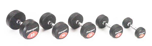 【ラバーダンベル】FitnessPort ラバーダンベル37.5kg(2個1組)