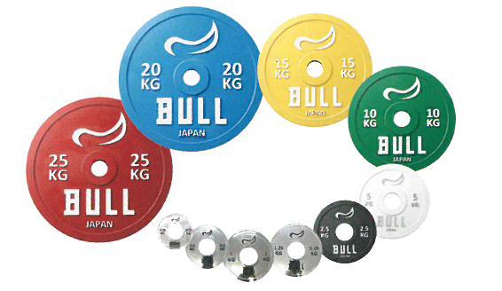 【代引き不可】【重量高精度パワーリフティングプレート】BULL IPF公認パワーリフティングプレート 15kg(2枚1組) BL-PLP15