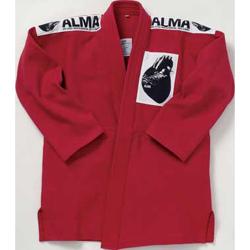 マーシャルワールド ALMA 国産柔術衣 上下 (色:赤・黄・緑) (サイズ:A0・A1・A2) JU1
