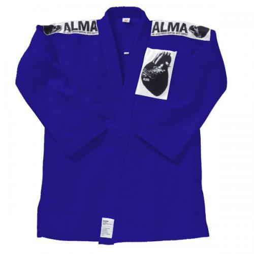 マーシャルワールド ALMA 海外製柔術着(上下・白帯付)青 (サイズA3~A5)