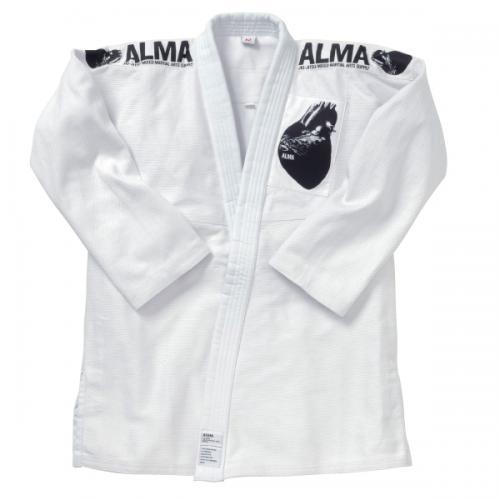 マーシャルワールド ALMA 海外製柔術着(上下・白帯付)白 (サイズA3~A5)