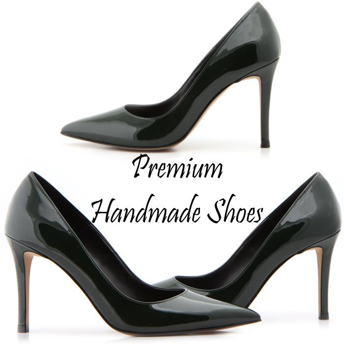 シンプルレザーパンプス 本革パンプス ピンヒール ハンドメイドシューズ 靴通販