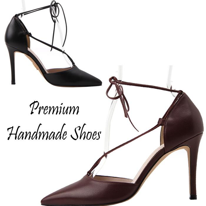 レザーパンプス 本革パンプス ピンヒール ハンドメイドシューズ 靴通販
