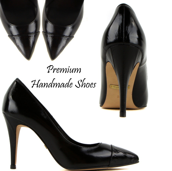シンプルレザーパンプス ハンドメイドシューズ 靴通販