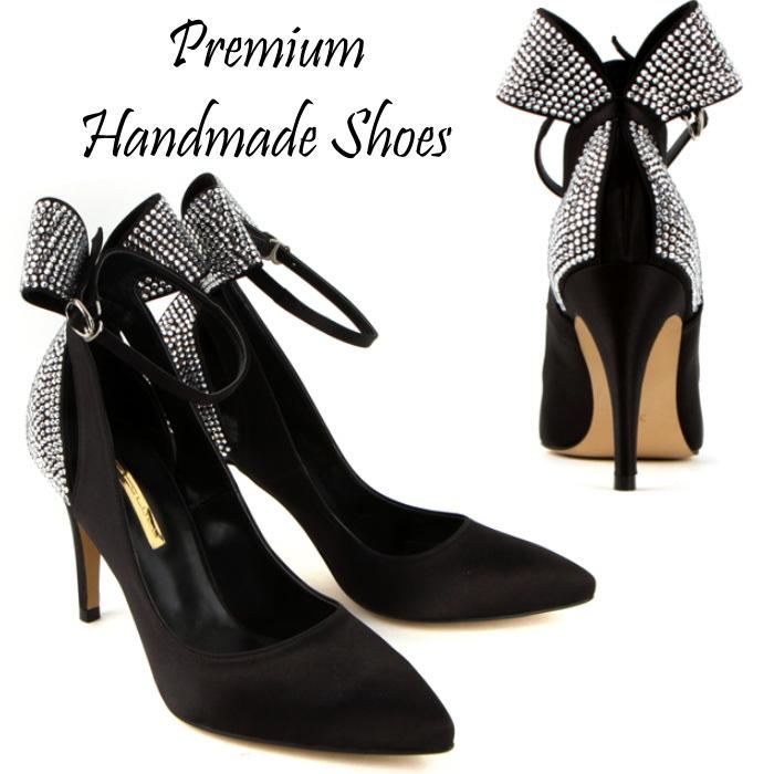 キラキラストーンパンプス ドレスパンプス ピンヒール ハンドメイドシューズ 靴通販