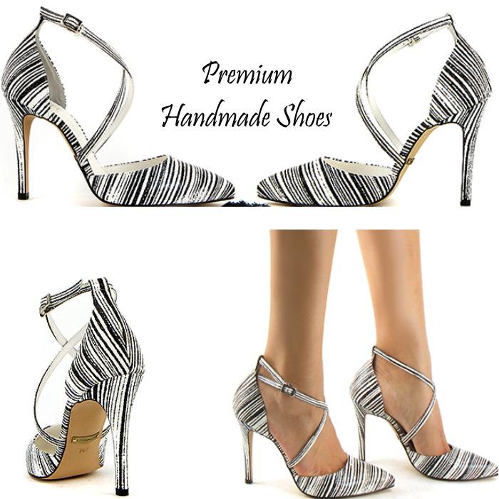 クロスストラップレザーパンプス ハンドメイドシューズ 靴通販