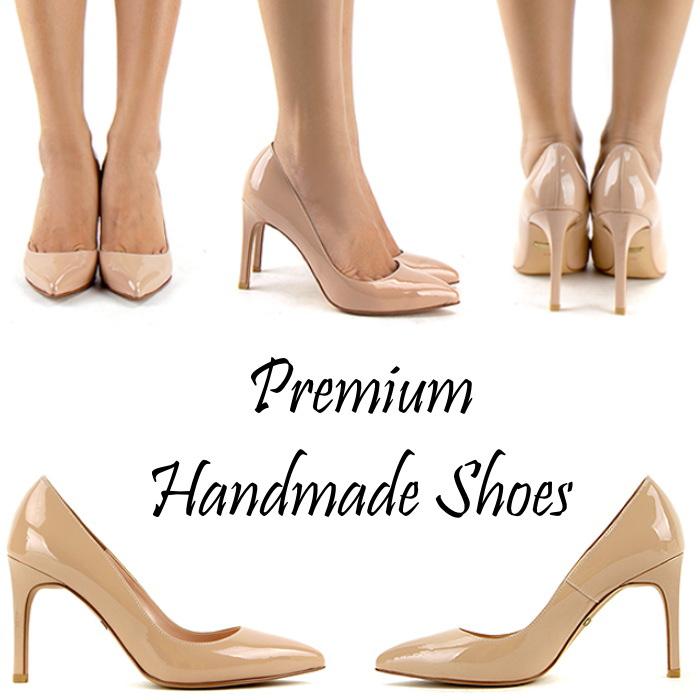 シンプルベーシックレザーパンプス ハンドメイドシューズ 靴通販