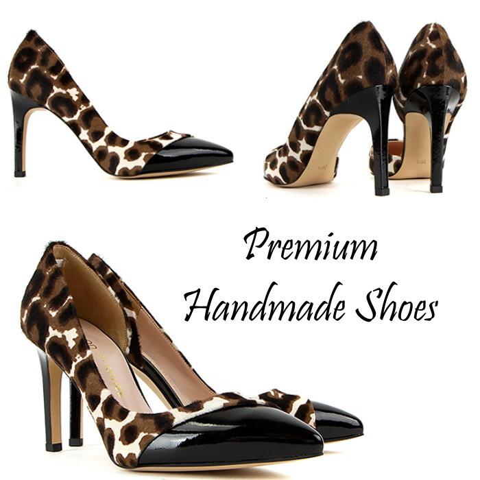 豹柄レザーパンプス ハンドメイドシューズ 靴通販