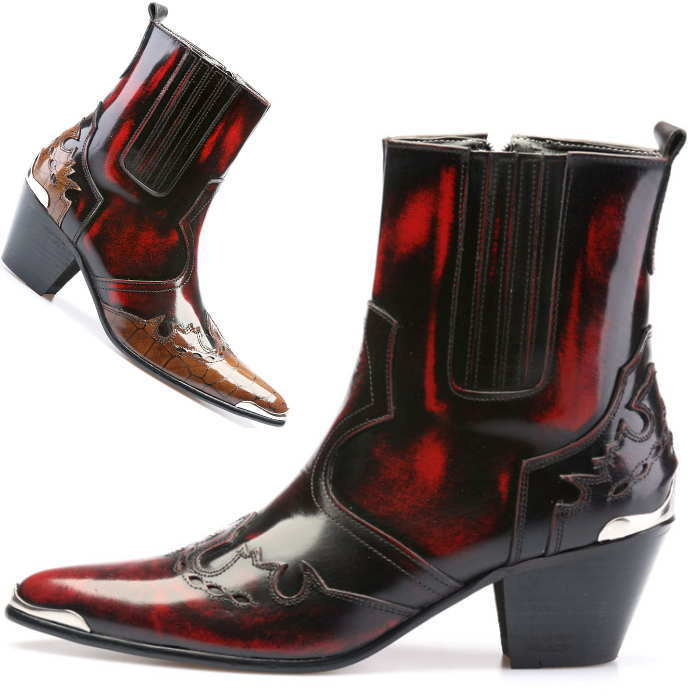 メンズ レザー 本革 靴 くつ ブーツ シューズ 小さいサイズ 大きいサイズ 25cm 25.5cm ハンドメイドブーツ 26.5cm 全2色 27.5cm 27cm サイドジップレザーブーツ メンズブーツ 数量は多 26cm 28cm 春の新作続々 レザーブーツ