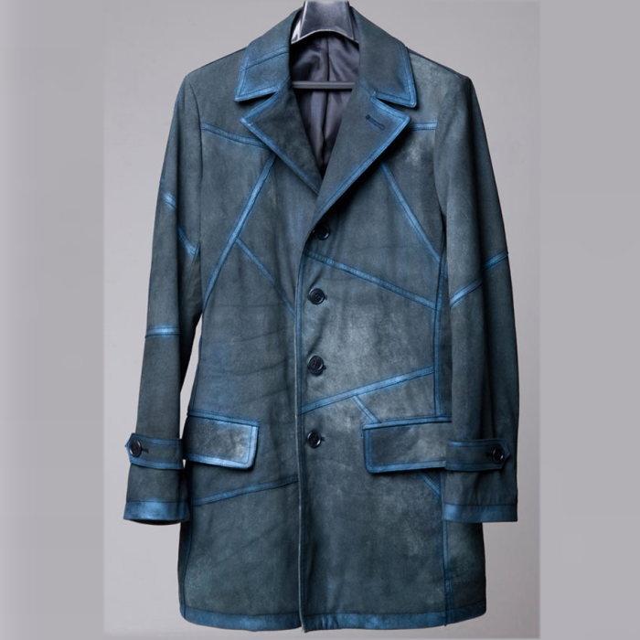 レザーシングルコート/全1色 ハンドメイド レザーコート 本革 レザー コート シングルコート 大きいサイズ 小さいサイズ